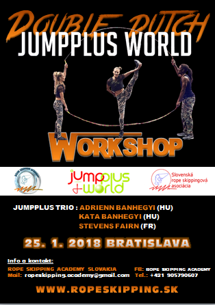 Double dutch Jumpplus World workshop v skákaní cez švihadlo.